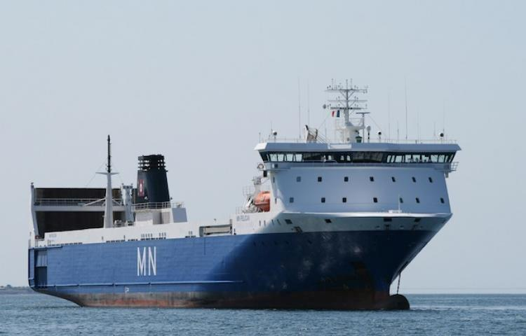 Maritime Nantaise ship at sea using SERTICA maintenance system