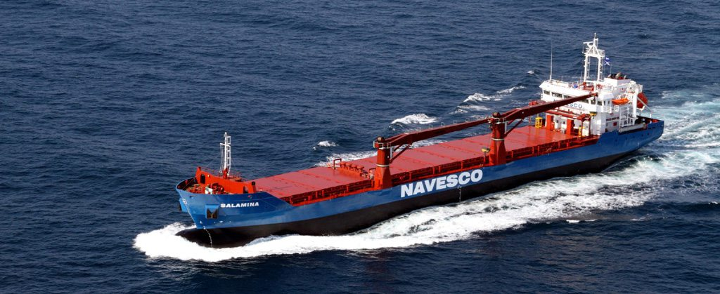 NAVESCO Salamania ship at sea with SERTICA implementation