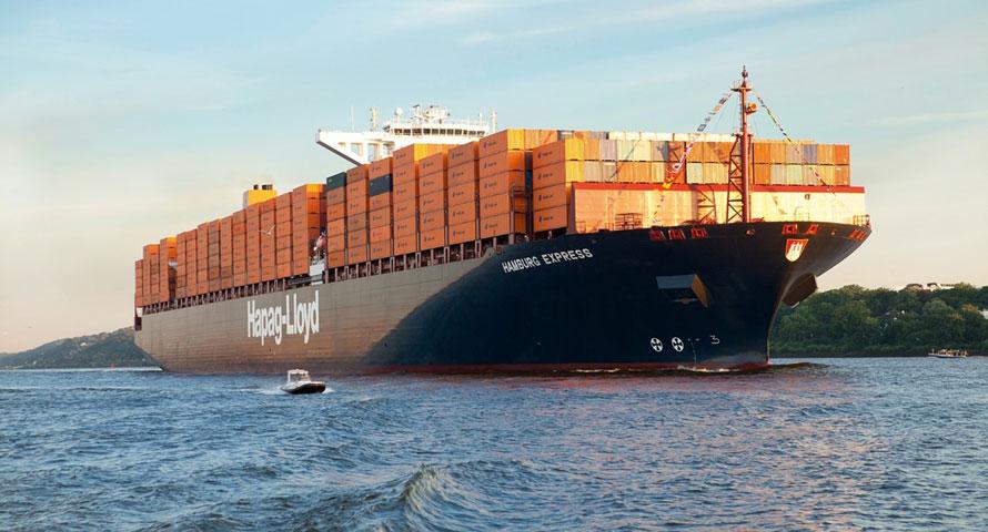 Hapag-Lloyd container ship at sea